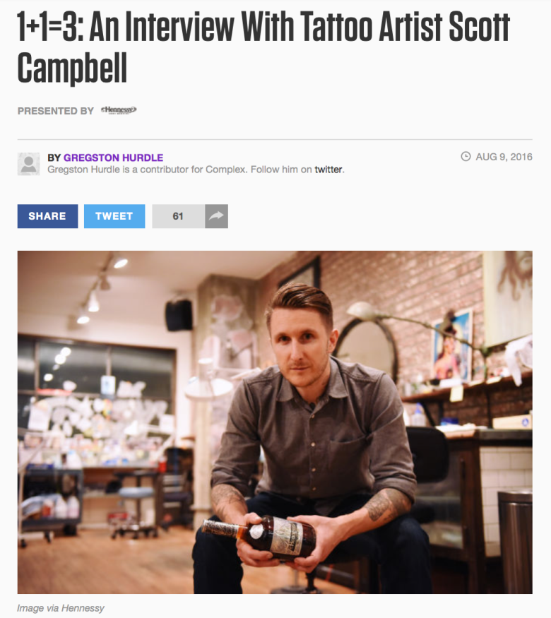 Scott Campbell Hennessy Interview Complex Media